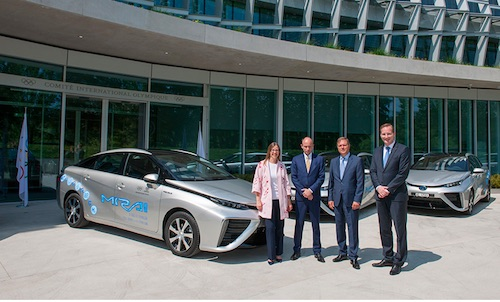 IOC Receives Delivery of Zero Emission Hydrogen Fuel Cell Vehicles from Toyota