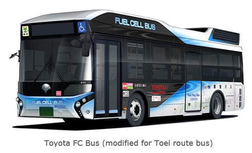 Toyota Delivers Fuel Cell Bus to Tokyo Metropolitan Government
