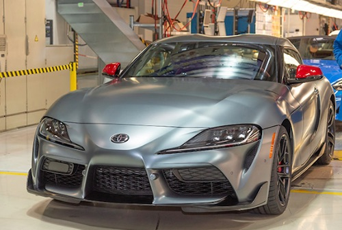 New Toyota GR Supra Races off the Line