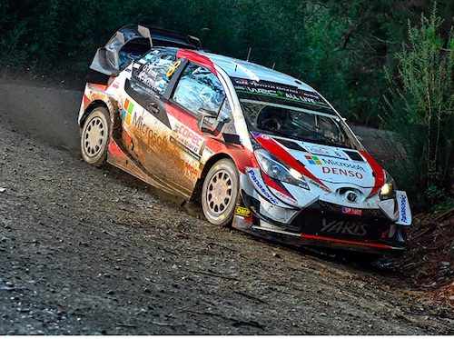 Toyota Yaris WRC Tackles a Tough Gravel Double